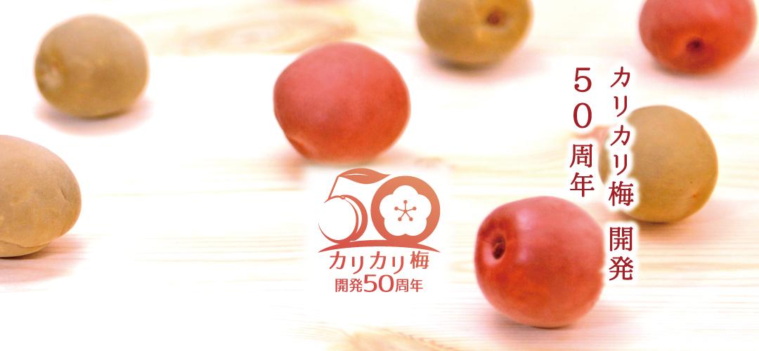 カリカリ梅50周年
