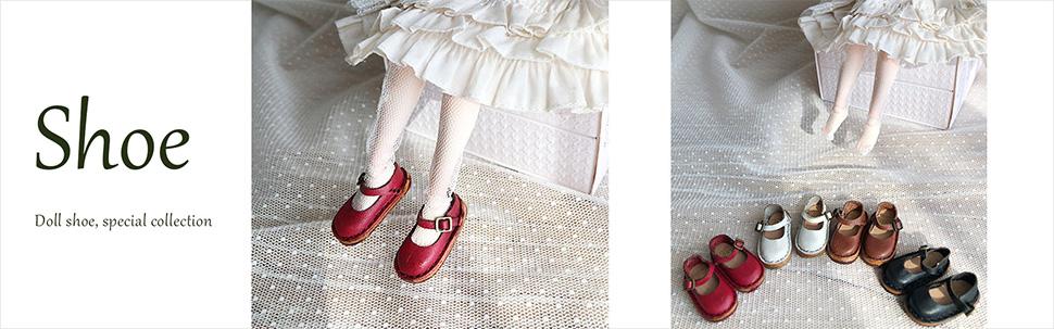 革のドール靴