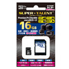 SUPER TALENT microSDカード 16GB Class10|ST16MSU1PD 11-0176