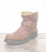 IrregulaR by ZIP STEVENSON 〔イレギュラー〕 特注 Brown Vintage Engineer Studs Boots / 9