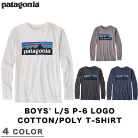 BOYS' L/S P-6 LOGO COTTON/POLY T-SHIRT