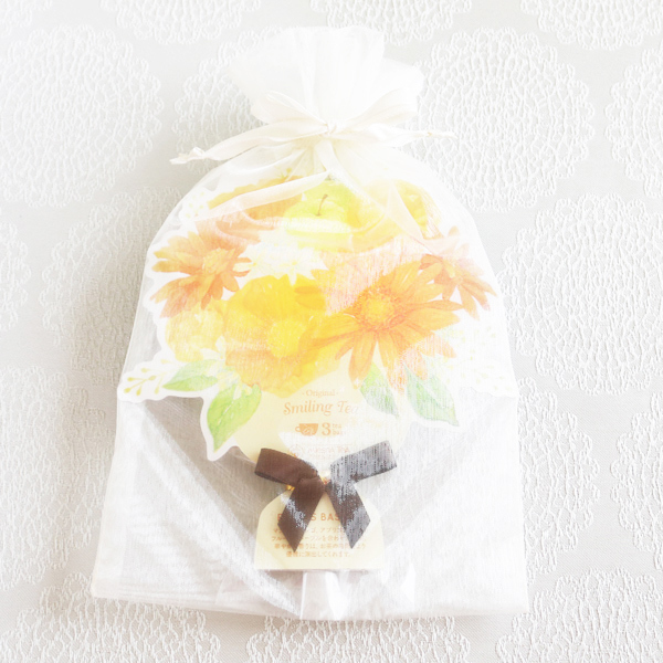 【お急ぎギフト】Tea Lover ; Fruit Bouquet (3 tea bags入)